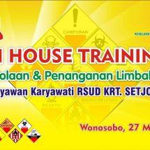 Inhouse Training  Pengolahan & Penanganan Limbah B3 RS
