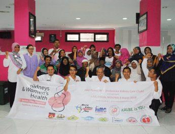 Kunjungan IKCC (indonesia Kidney Care Club) dalama rangka  word kidney DAY