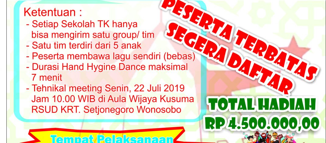 Ayo Ikuti Lomba Hand Hygine Dance For Kid's 2019