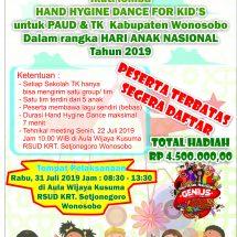 Ayo Ikuti Lomba Hand Hygine Dance For Kid's 2019