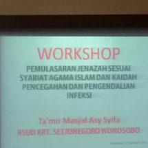 Workshop, Pemulasaraan Jenazah Sesuai Syariat Agama Islam dan Kaidah Pencegahan dan Pengendalian Infeksi
